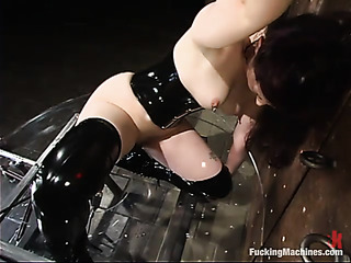 curvy brunette black corset