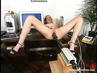 blonde woman takes off