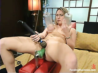 tied blonde with juicy