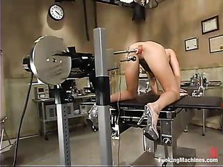 flexible brunette lady gets