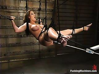 big boobed brunette bondage