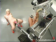 blonde, fucking machines, tall, vixen