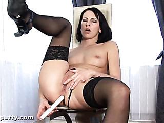 horny slut black lingerie