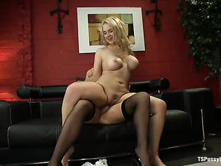 blonde student sucking dick