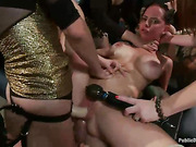 ass, rough sex, strap-on, tied