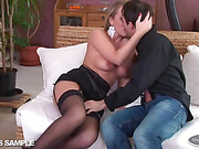 anal, erotica, stockings, white