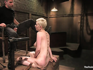 short-haired blonde bitch with