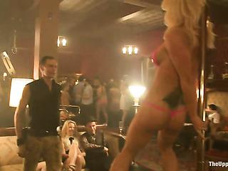 bunch slender porn strippers