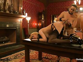 two blonde darlings bondage