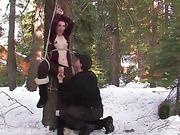 bondage, fun, outdoor, tied