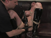 beauty, bondage, cum, woman