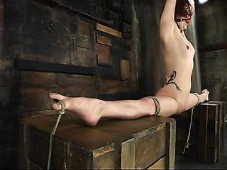 redhead schoolgirl gets tied
