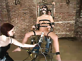 brunette slut bondage gets