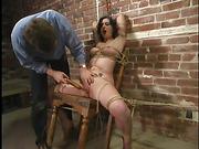 bondage, cage, tied, wet