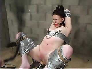 redhead bitch gets gagged