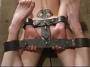 bondage, chained, pussy, suspension