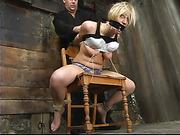 bondage, brutal, tied, vibrator