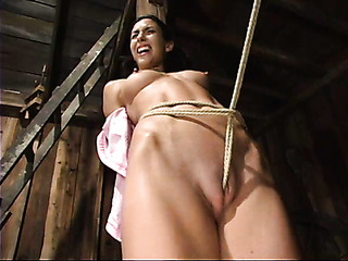 slender brunette lady gets