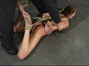 beautiful, bondage, torture, wet