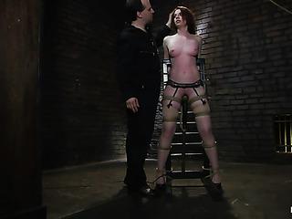 redhead slut garters gets