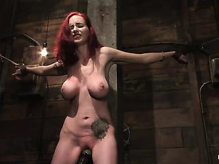 big boobed redhead lady