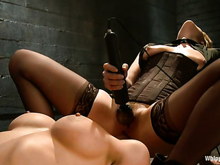 busty blonde slave gets
