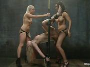 action, femdom, lesbian, strapon