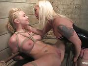 femdom, lesbian, punishment, strapon