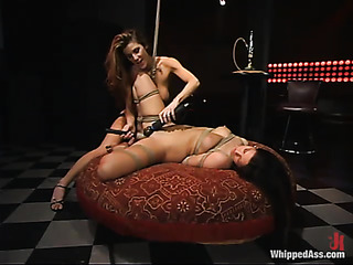 two lesbian brunettes the