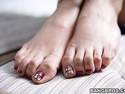 adorable, foot, small tits, watching