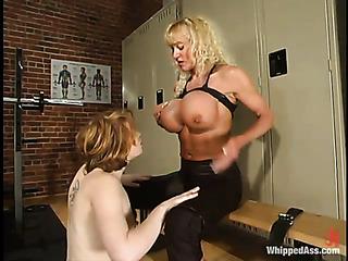 big boobed blonde black