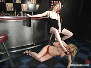 femdom, lesbian, strapon, submissive