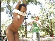 femdom, lesbian, outdoor, strapon