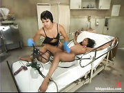 kinky ebony nurse with