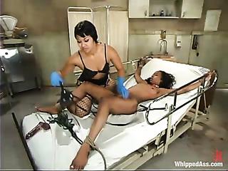 kinky ebony nurse with