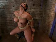 bondage, brutal, tits, vibrator