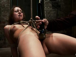 brunette schoolgirl bondage gets