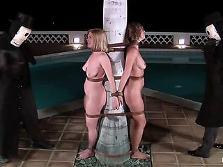 four young bondage sluts
