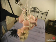 blonde whore tied ropes