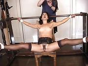 beautiful, bondage, tied, wet