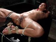 bondage, dripping, tied, wet