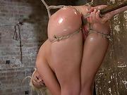 bondage, double penetration, tied, tied up