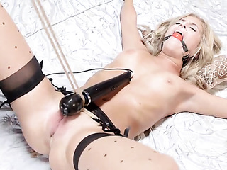 young blonde girlfriend black