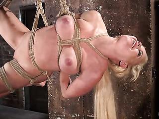 big boobed blonde woman