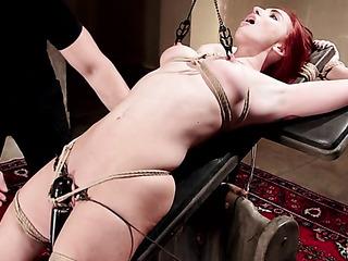 inked redhead slut bondage