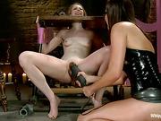 ass, femdom, lesbian, strapon