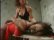 femdom, lesbian, pain, strapon