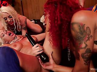 four porn sluts having
