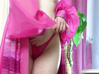 elegant girl strips out