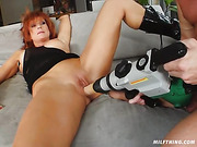 dildo, milf, mom